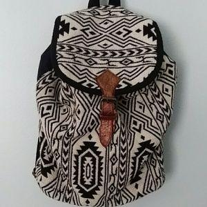World Market woven backpack. Boho style.